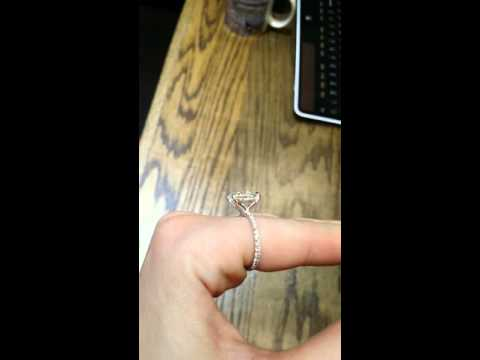 11x9mm Oval Forever Brilliant Moissanite and Diamond Solitaire Engagement Ring in Platinum