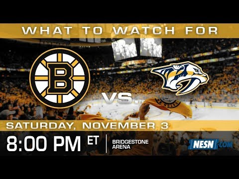 Video: Bruins vs. Predators Game Preview