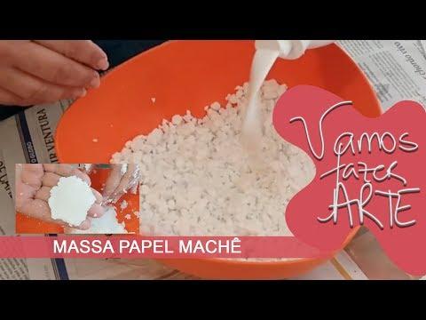 Fazer Massa de papel machê