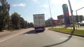 Bauska Latvia  city photo : City of Bauska Latvia on motorbike 2014.
