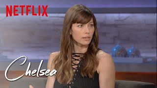 Video Jessica Biel on 'The Sinner,' Working Out, and Motherhood (Full Interview) | Chelsea | Netflix MP3, 3GP, MP4, WEBM, AVI, FLV Mei 2018