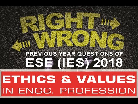 Ethics and Values | ESE (IES) 2018 Previous Year Questions | Compete India Zone | CIZ