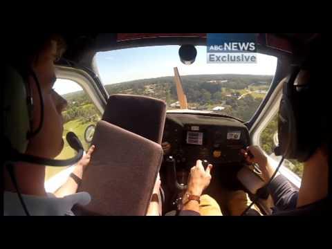 Cockpit footage captures moment light plane loses power