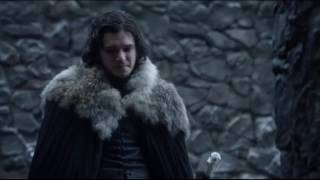 jon snow getting valyrian sword.