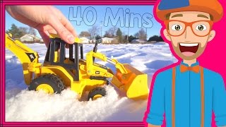 Educational Videos for Toddlers with Blippi | Backhoes and Colors! full download video download mp3 download music download