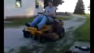 8. Testing the new lawn mower out