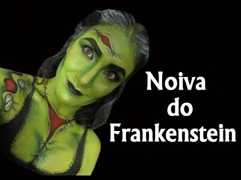 Maquiagem da Noiva do Frankenstein -Tutorial de Maquiagem Artística