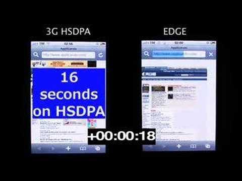 Simulación casera de la velocidad de un iPhone 3G