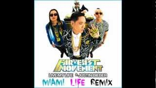 Far East Movement videoklipp Live My Life (feat. Justin Bieber) (Miami Life Remix)