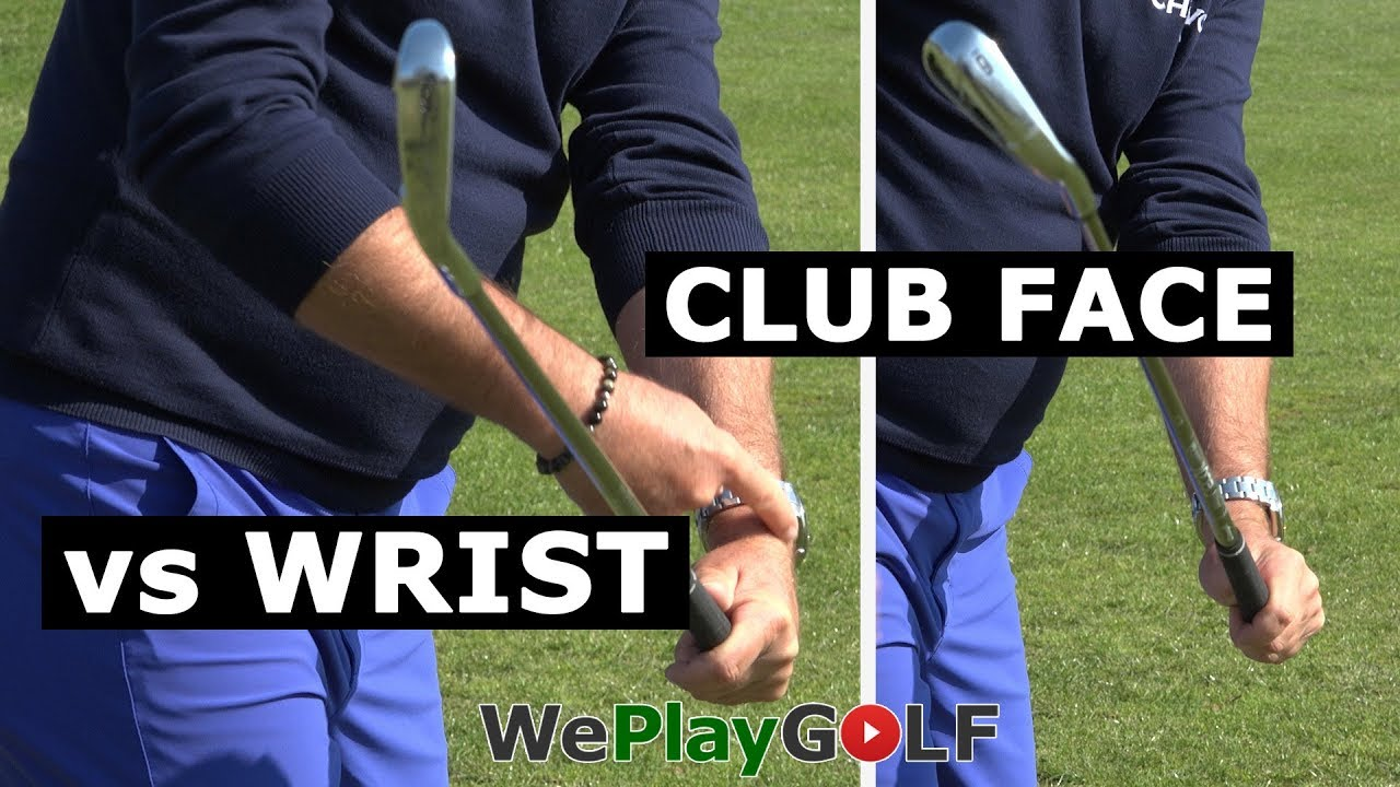 Perfect wrist action for a square club face