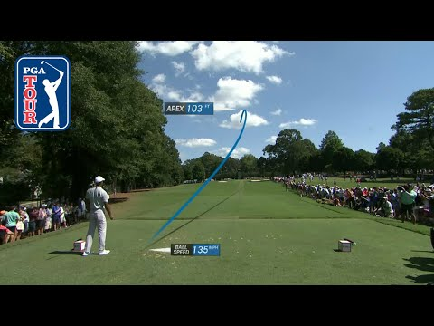 Tiger Woods' shot trails from 2018  …