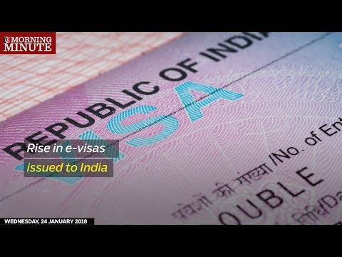 E-visas issued for travel to India have seen more than a sevenfold increase in a single year.