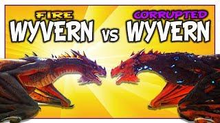 Corrupted Wyvern vs Fire Wyvern in Ark Dino Battles [Dino vs Dino] •••