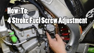 9. How-To: 4 Stroke MX Fuel Screw Adjustment YZF CRF KXF RMZ FCR Part 2 of 2