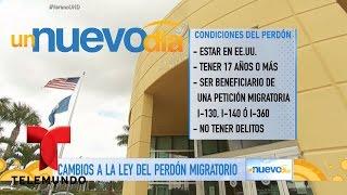Te contamos los cambios en la Ley del Perdón Migratorio | Un Nuevo Día | Telemundo