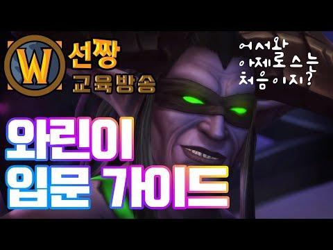 [15화] 와린이를 위한 와우 입문 가이드-선짱의WOW교육방송 2018