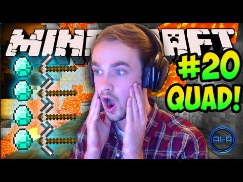 """MINECRAFT (How To Minecraft) – w/ Ali-A #20 – """"QUAD DIAMONDS!"""""""