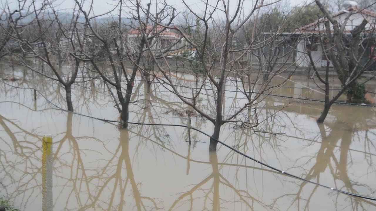 Λάρισα: Kαταστροφές από πλημμύρες στον Αγιόκαμπο