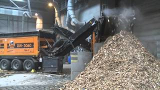Large volume biomass production using a Doppstadt DW3060 Bio Power and recirculating star screen
