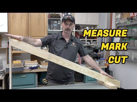 How To Make Common Rafters [Measure, Mark & Cut] видео