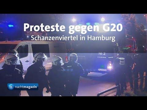 G20-Gipfel: Wasserwerfer gegen Aktivisten