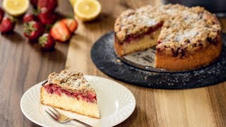 Strawberry Streusel Cake