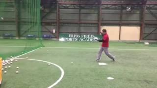 「ワンバウンドティーバッティング」(野球教室 ブリスフィールド東大阪 平下コーチ)