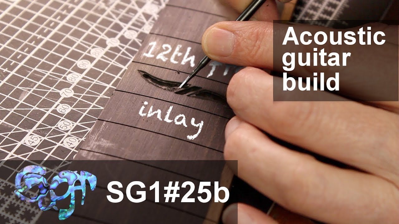 SuGar SG1 acoustic guitar build part 25b: Inlaying the 12th fret (2nd part)