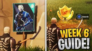 ALL Week 6 Challenges Guide! Spray over different Carbide or Omega Posters, Search Between, Fortnite