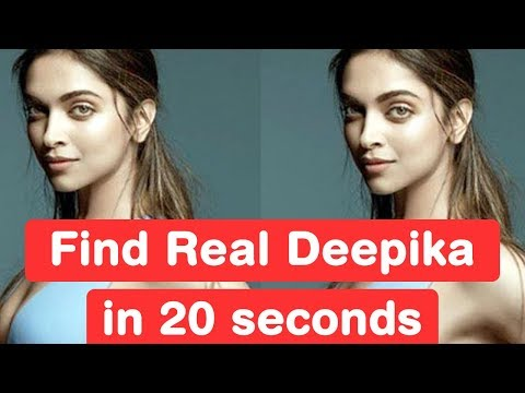 Find Real Deepika Padukone in 20 seconds - Padmavati Challenge