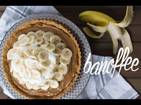 BANOFFEE - Torta de doce de leite com bananas