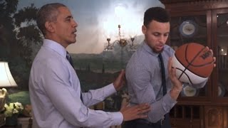 Obama's shooting tips to Stephen Curry