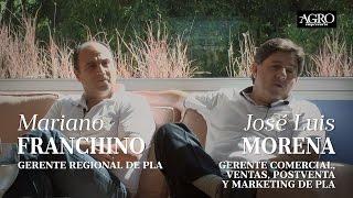 Mariano Franchino, Gte. Regional y José Luis Morena, Gte. Comercial - Pla
