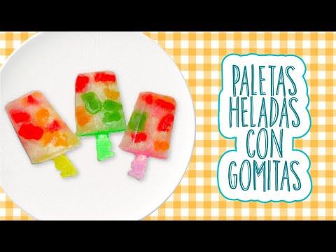 PALETAS DE HIELO CON GOMITAS ( Receta - Fácil - Rápida ) | Mirem Itziar ❤
