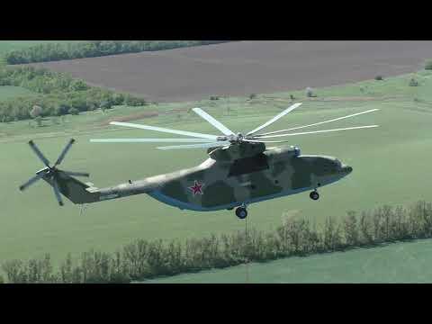 В ЮВО отработали тушение пожаров в Ростовской области на транспортно-штурмовых Ми-8АМТШ и Ми-26