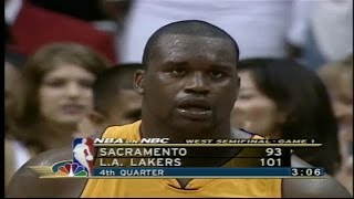 Shaquille O'Neal Full Highlights vs Kings 2001 WCSF GM1 - 44 Pts, 21 Rebs, 7 Blks