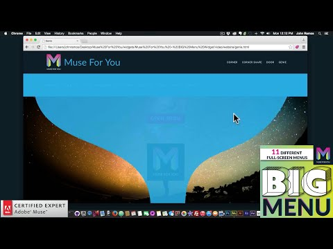 BIG Menu Widget | Adobe Muse CC Tutorial | Muse For You