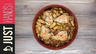 Roast Stuffed Chicken & Potatoes  Akis Kitchen Subscribe: https://goo.gl/pTRCrP Chef: Akis Petretzikis Director: Leonidas...