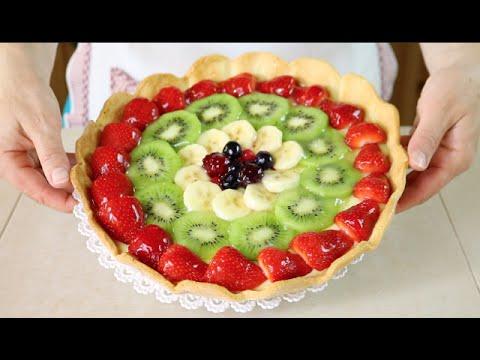 Crostata di Frutta Ricetta per Base, Crema e Gelatina - Homemade Fruit Pie Recipe