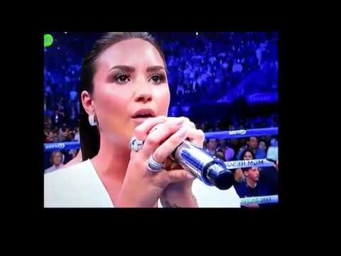 Demi Lovato - Sings US National Anthem Mayweather/Mcgregor Fight (Full Version)