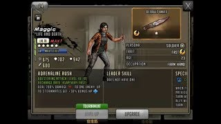 Walking Dead : Road to Survival - EPIC WAR MAGGIE and TERESA - Tier 4 and 3 UPGRADE