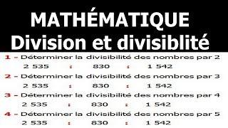 Maths 6ème - Division et divisibilité Exercice 2