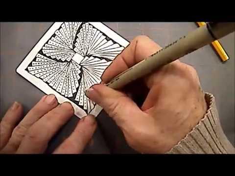 "Demonstration of Zentangle® Tangle ""Biscus"" with Melinda Barlow, CZT"