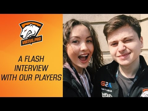 Virtus.pro at The Kiev Major: A flash interview with our players | Dota 2