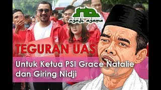Video Teguran Keras ust Abdul Shomad untuk Grace Natalie Ketua PSI @ Ngaji Agama 15 MP3, 3GP, MP4, WEBM, AVI, FLV Juni 2019