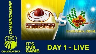 Leewards v Barbados   West Indies Championship - Day 1  Thursday 14th March 2019
