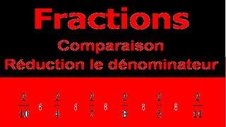 Maths 6ème - Fractions comparaison et réduction le dénominateur Exercice 4