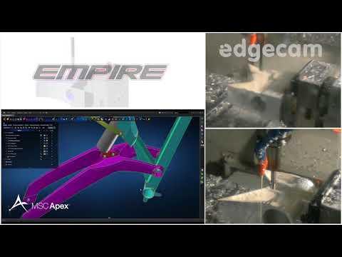 Empire Cycles Headstock Machining | Edgecam (видео)