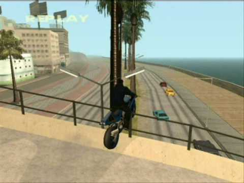GTA:San Andreas Motorbike Stunts [no mod]