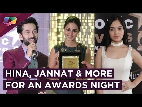 Hina Khan Receives An Award | Jannat Zubair, Nikit